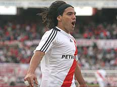 Falcao celebrates the game\'s only goal