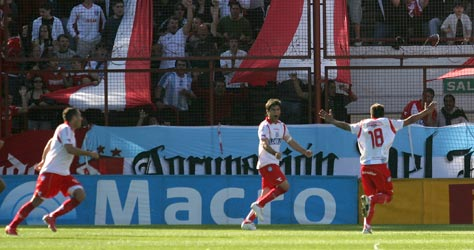 Caruzzo celebrated sending Argentinos second