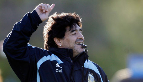 Full time for Maradona